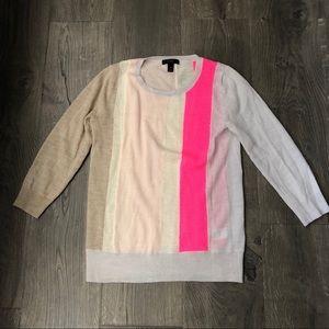 JCrew vertical colorblock sweater xs